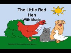 The Little Red Hen Story w Music - This is a YouTube video with words that allows children to read along.