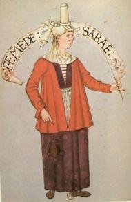 "Sara. ""Habits de femmes de diverses countres"" Bibliotheque Nationale de Paris. early 16th c."