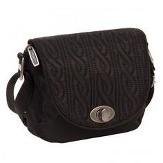 47f9188daabc Baggallini Black Nylon Luggage Delight Mini Quilted Crossbody Bag  www.BagLane.com