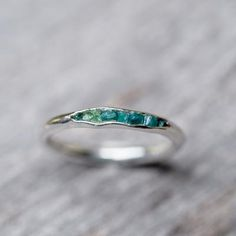 Rough Emerald Ring with Hidden Gems - Gardens of the Sun Jewelry