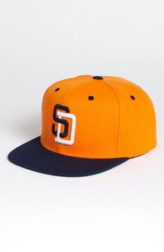 Men s American Needle  San Diego Padres - Back 2 Front  Snapback Baseball  Cap - Orange 675318a24b5c