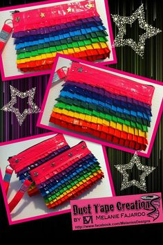 Duct Tape Clutch 7 Zipper by MelsTapeCreations on Etsy, $13.00