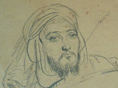 CHASSERIAU Théodore,1846 - Arabe allongé - drawing - Détail 10