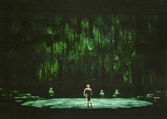 """"""" Götterdämmerung """" 3.Akt 1.Bild 1966 Wieland Wagner Bühnenphoto"""