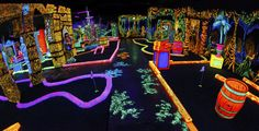 Glowing Greens is Portland and Beaverton's premiere, black light, indoor, 18 hole, 3-D Adventure miniature golf course. - Adult (12 and older):  $9.50 Child (11 and younger), Senior (55+) & Military: $8.50