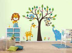 Wandtattoos Tiere als Dekoration für Kinderzimmer #deko #dekoration #dekorationsidee #Wandtattoos