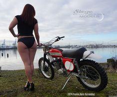 Motocross Girls, Vintage Motocross, Dirt Bike Girl, Lady Biker, Biker Girl, Cafe Racer Girl, Motorbike Girl, Old Motorcycles, Hot Bikes