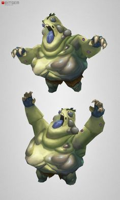 Low Poly Fat Zombie