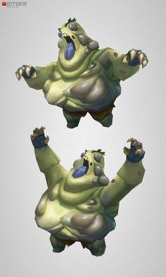 Low Poly Fat Zombie