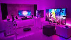 Súper cool setup de 👌 ➖➖➖➖ Síguenos 👉 Envía tu setup por email o con . Setup Desk, Gaming Desk Setup, Best Gaming Setup, Computer Setup, Pc Setup, Office Setup, Deco Gamer, Video Game Rooms, Custom Pc