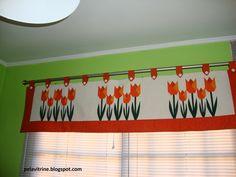 Conjunto para cozinha: bandô para cortina