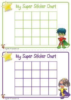Teacher's Pet - Superhero Sticker Charts - FREE Classroom Display Resource - EYFS, KS1, KS2, super, heroes, behaviour, chart