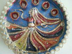 Aarti decoration diy crafts that i love pinterest decoration cd crafts paper crafts indian crafts sewing art wedding decoration arti thali decoration rakhi krishna murals junglespirit Image collections