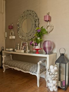 The apartment of Ana Antunes of Ana Antunes Home Styling. Beautiful entry way!!