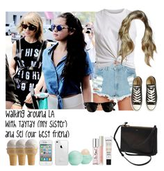 """Walking around LA with TayTay (my sister) and Sel (our best friend)"" by jaynnelinsstyles ❤ liked on Polyvore"