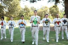 Superhero groomsmen - we say yes thanks! Queensland Brides: Grooms Go Crazy - Quirky Groom Style