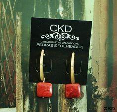 Brincos com coral!!www.ckdsemijoias.com.br