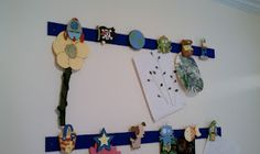 A Great Way to Hang Kid's Art: Steps explained on my blog.
