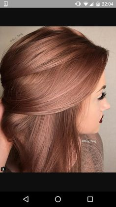 Dark Rose gold hair