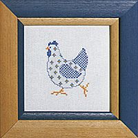 Free Pattern of White Chicken.