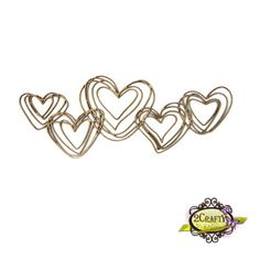Squiggly Heart Cluster (unit of 3)