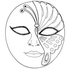 """Receive wonderful ideas on """"mascara tips"""". They are on call for you on our website. Colouring Pages, Adult Coloring Pages, Coloring Books, Mask Painting, Mask Template, Carnival Masks, Venetian Masks, Masks Art, Color Lines"""
