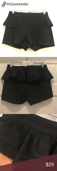 "Peplum Short! Super cute peplum back Lycra short.  Miami nights feel!   Hidden zipper. Clean seams. No tags but never worn.  11"" in length from waist WOW couture Shorts"
