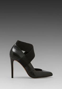 Steven Rusty Heel in Black Leather