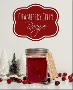 Cranberry Jelly Recipe   Mason Jar Crafts Love