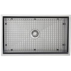 This square single bowl kitchen sink is crafted with high quality stainless steel which is padded to reduce the noise of clamoring pots, pans and silverware when in use and fully undercoated to prevent condensation.