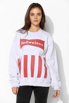 Junk Food Budweiser Pullover Sweatshirt. Perfect summer sweater! I need this!