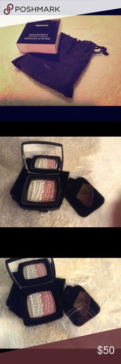 Chanel Perles Et Fantaisies illuminating powder Limited edition discontinued embossed illuminating powder. Brand new, in box, comes with small Chanel bag. CHANEL Makeup Luminizer