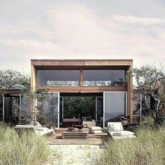 Beach house: 266 Bay Walk, Fire Island, NY by Horace Gifford 1968 Fire Island, Exterior Design, Interior Architecture, Sustainable Architecture, Residential Architecture, Garden Architecture, Building Architecture, Beautiful Homes, Simply Beautiful