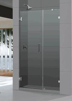 """DreamLine SHDR-23467210 UnidoorLux 46"""" Frameless Hinged Shower Door"""
