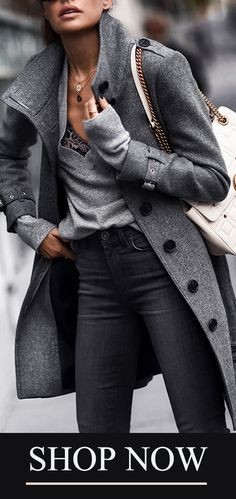 - f a s h i o n - Winter Mode Look Fashion, Trendy Fashion, Winter Fashion, Womens Fashion, Fashion Trends, Fashion Coat, Jackets Fashion, Bohemian Fashion, Cheap Fashion