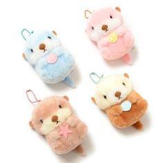 picture of Mucchiri Rakkun Otter Plush Collection (Ball Chain) 1 Kawaii Plush, Cute Plush, Cute Stuffed Animals, Cute Animals, Tokyo Otaku Mode, Hamster, Kawaii Room, Mode Shop, Plush Pattern