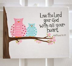 Love the idea of bible verses hand painted on canvas. Any theme could be done. Bible Verse Painting, Bible Verse Canvas, Bible Art, Hand Painted Canvas, Diy Canvas Art, Diy Wall Art, Bible Verses For Kids, Kids Bible, Homemade Art