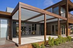 There are lots of pergola designs for you to choose from. First of all you have to decide where you are going to have your pergola and how much shade you want. Then you must decide h Concrete Patios, Wood Patio, Wooden Pergola, Brick Patios, Outdoor Pergola, Patio Roof, Backyard Patio, Pergola Lighting, Gravel Patio