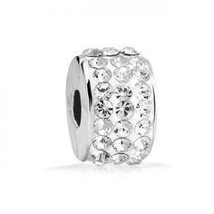 Bling Jewelry 925 Sterling Swarovski Crystal Stopper Clasp Bead Fits Pandora