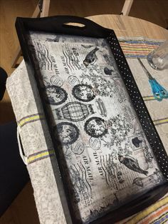 Vintage tray #dots