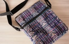 Upcycled  Recycled Cross Body Bag / Purse Long by TheFairLine, $30.00