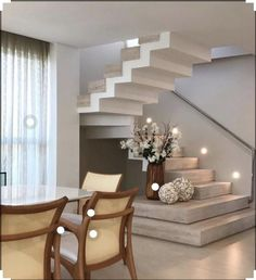 Home Stairs Design, Interior Stairs, Modern House Design, Interior Design Living Room, Stair Design, Staircase Design Modern, Interior Decorating, Decorating Ideas, Design Interiors