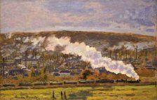 クロード・モネ 《貨物列車》 1872年