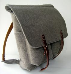wool felt backpack .
