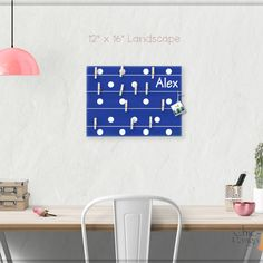 A beautiful way to display your cards and memos and decorate a room. This display board can be hanged in a dorm, kids room, teens room, office, kitchen, family space and more. Personalization option. 10 design options Hand painted canvas with wooden clothespins #giftforher #Bulletinboard #cardsdisplay #navybluedot #dots #polkadot #navyroomdecor #boysroom #giftforgirl #teensroom #officeorganizer #memoholder #homeorganizer #personalizedgift #giftforteens #freeshipping #christmasgift…