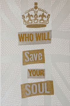 Who Will Save Your Soul  Beads, Embroidery and Rhinestones on Canvas  61x42