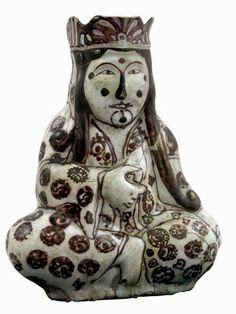 SELÇUKLU SERAMİK İNSAN VE HAYVAN FİGÜRLERİ Ancient Near East, Ancient Art, The Turk, Turkish Art, Ceramic Decor, Art And Architecture, Islamic Art, Middle Ages, Earthenware