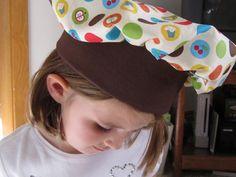 Twelve Crafts Till Christmas: pretend and play restaurant set: child's chef hat tutorial