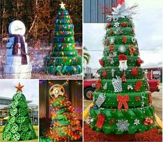 How to make Christmas tree from tires diy christmas diy crafts do it yourself diy projects christmas tree