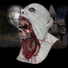 X-Мерри Паразит зомби Маска - Страшно Маска с кровью - Horror Хэллоуина маски из латекса Маска Бесплатная доставка